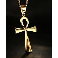 Herre Dame Anheng Halskjede Smykker Kors Formet Rustfritt Stål Hengende Smykker Til Daglig