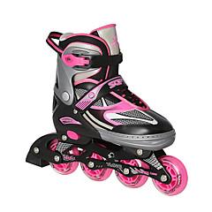 Kinder Erwachsene Inline-Skates Anti-Shake Atmungsaktiv Einstellbar Schützend ABEC-7 - Schwarz/Rot/Blau/Rosa