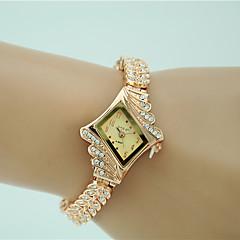Mulheres Relógio Elegante Relógio de Moda Bracele Relógio Quartzo imitação de diamante Lega Banda Pendente Elegantes Dourada Dourado