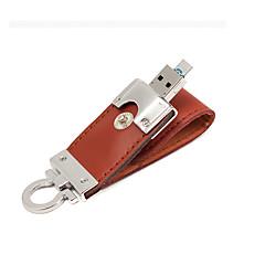 2 1 가죽 USB 3.0 OTG 플래시 드라이브 32 기가 바이트 마이크로 USB 메모리 스틱 (갈색) 32기가바이트에서