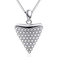 Anhänger Sterling Silber Strass Basis Herz Silber Schmuck Alltag Normal 1 Stück