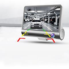 full hd 1080p novo três-canal da câmera 4.0 polegadas dupla lente ajustável de 170 graus grande angular carro gravador DVR da visão