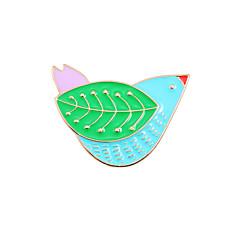 Feminino Broches Animal Moda Estilo bonito Esmalte Liga Formato Animal Pássaro Jóias Para Casamento Festa Ocasião Especial Diário Casual