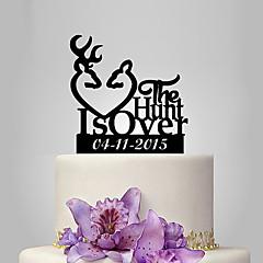 Kakepynt Personalisert Akryl Bryllup Jubileum Utdrikkingslag Hage Tema Klassisk Tema OPP