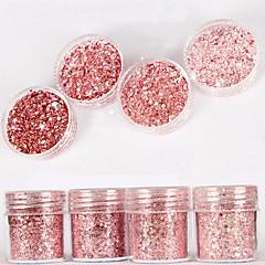 10 ml vaaleanpunainen hohto timantti kirkas jauheseosta paljetteja kynsien kaltevuus laser jauhe nail art koriste kynsilakka