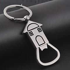 Alliage d'aluminium Porte-clée pour Invitée Pièce / Set Personnalisé Argent