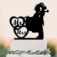 Kakepynt Klassisk Par Bryllup Fest Spesiell Leilighet Bursdag Fest & AftenStrand Tema Hage Tema Sommerfugl Tema Klassisk Tema Eventyr
