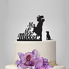 Kakepynt Personalisert Klassisk Par Akryl Bryllup Jubileum Utdrikkingslag Hage Tema Klassisk Tema Rustikk Tema OPP