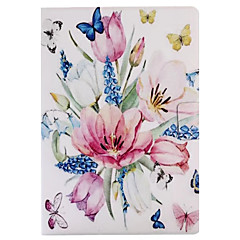 For Case Cover Card Holder with Stand Flip Pattern Smart Touch Full Body Case Flower Hard PU Leather for iPad (2017) Pro10.5 Pro9.7 Air2 iPad234