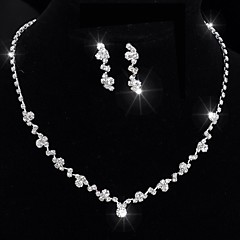 Women's Jewelry Set Unique Design Tassel Simple Style Classic Crystal Single Strand ForWedding Party Special Occasion Anniversary