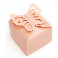12 Adet/Set Favor Tutucu-Kuboid İnci Kağıdı Hediye Kutuları Kişiselleştirilmemiş