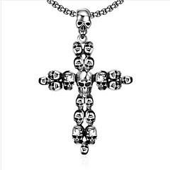 Herre Anheng Halskjede Smykker Kors Formet Titanium Stål Kors Smykker Til Daglig Avslappet 1 pakke