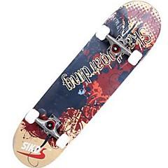 31 Zoll Komplett Skateboards Standard-Skateboards Leichtes Gewicht Ahorn 608ZZ-Schwarz Rot Grün Blau Muster