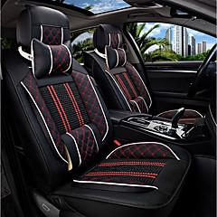 O assento do assento do novo carro tampa do assento de couro quatro estações de gelo geral cercado por cinco cadeiras de carro da família