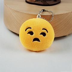 New Arrival Cute Emoji Rude Face Key Chain Plush Toy Gift Bag Pendant