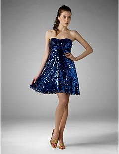 a-line princess strapless sweetheart short / mini sequined tscouture®のスパンコール付きカクテルパーティードレス