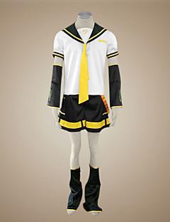 Inspiré par Vocaloid Kagamine Len Vidéo Jeu Costumes de Cosplay Costumes Cosplay Mosaïque Manches CourtesHaut Manche Ceinture Jambières