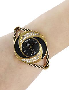 לנשים שעוני אופנה שעון צמיד קווארץ סגסוגת להקה מדבקות עם נצנצים צמיד שחור לבן כחול אדום ורוד סגול שחור סגול אדום כחול ורוד