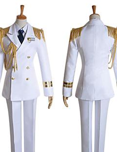 Inspireret af Uta no Prince Sama Ai Mikaze video Spil Cosplay Kostumer Cosplay Kostumer Ensfarvet Hvid Langt ÆrmeJakke Skjorter Bukser