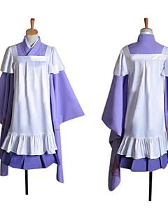 Inspiré par Vocaloid Megurine Luka Vidéo Jeu Costumes de cosplay Costumes Cosplay Mosaïque Violet Manche LonguesVeste Kimono / Jupe /
