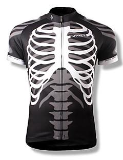SPAKCT® Homme Manches courtes Vélo Respirable Séchage rapide Vestimentaire Maillot Hauts/Tops Polyester Crânes Eté Cyclisme/Vélo