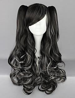 Lolita Wigs Punk Lolita Černá Lolita Lolita Paruky 70 CM Cosplay Paruky Jednobarevné Paruka Pro