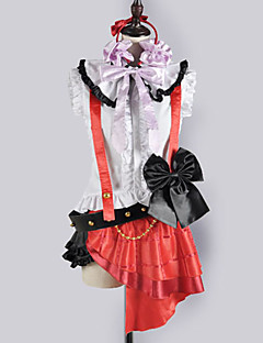 Inspiré par Aime la vie Nozomi Tōjō Vidéo Jeu Costumes Cosplay Costumes Cosplay / Uniforme d'Ecolier / Ecolière Mosaïque Blanc / Rouge