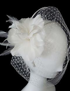 Véus de Noiva Uma Camada Véu Ruge Véus de Rede Tule Linha-A, Vestido de Baile, Princesa, Bainha/Coluna, Trompete/Sereia