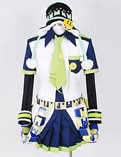 Inspiré par Dramatical Murder Noiz Vidéo Jeu Costumes de cosplay Costumes Cosplay Mosaïque Blanc / BleuTop / Chemise / Chapeau / Cravate