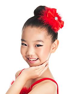 Аксессуары для танцев Украшения для волос Детские Учебный Атласные  Перья