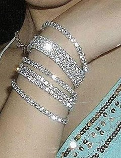Férfi Női Páros Lánc & láncszem karkötők Karkötő Menyasszonyi Méretes ékszerek jelmez ékszerek Hamis gyémánt Ékszerek Ékszerek
