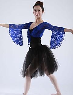 בלט חלקים עליונים בגדי ריקוד נשים תחרה שרוול ארוך