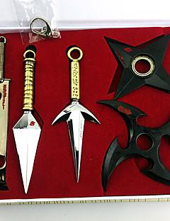 Aseet Innoittamana Naruto Cosplay Anime Cosplay-Tarvikkeet Aseet Musta / Kulta Metalliseos Uros / Naaras
