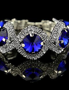 Dame Charm-armbånd Strand Armbånd Tennisarmbånd Krystal kostume smykker Krystal Legering Cirkelformet Geometrisk form Smykker Til Bryllup