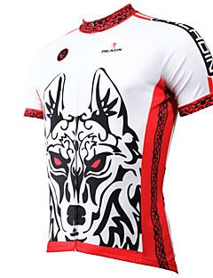 ILPALADINO Maillot de Cyclisme Homme Manches Courtes Vélo Maillot Hauts/Tops Séchage rapide Résistant aux ultraviolets Respirable