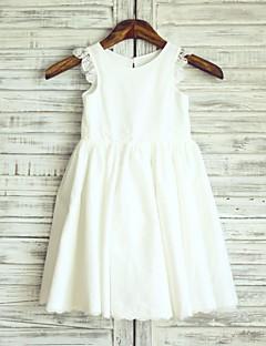 Vestido feminino de princesa joxinha com flor - algodão com renda sem mangas por thstylee