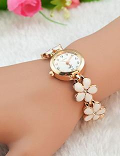 לנשים שעוני אופנה שעון צמיד קווארץ חיקוי יהלום סגסוגת להקה פרח אלגנטי שחור לבן אדום חום ורוד לבן שחור חום אדום ורוד