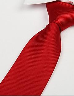 adulte rouge sergé cravate flèche jacquard cravate en soie de polyester