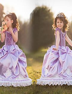Cosplay Kostüme Prinzessin Märchen Film Cosplay Violett Kleid Halloween Weihnachten Silvester Kind