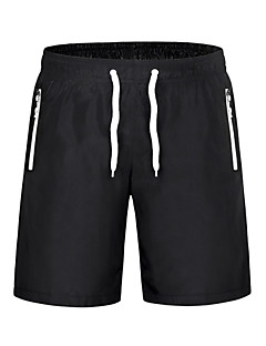 Herre Shorts til jogging Fort Tørring Pustende Komprimering Lettvektsmateriale Svettereduserende Mykhet Vinntett Shorts Bunner til Yoga &