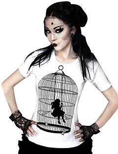 Blusa/Camisa Lolita Clássica e Tradicional Cosplay Vestidos Lolita Estampado Camiseta Para Licra Terylene