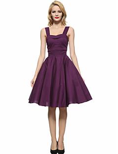 Maggie Tang Women's 50s VTG Retro Rockabilly Hepburn Pinup Business Swing Dress 583