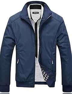 צבע אחיד צווארון חולצה קלסי ונצחי קניות יום יומי\קז'ואל פגישה (דייט) ג'קט גברים,סתיו חורף שרוול ארוך רגיל לא זמין