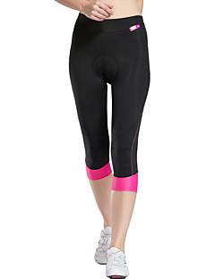 TASDAN Calças 3/4 Para Ciclismo Mulheres Moto 3/4 calças justas Shorts Shorts AcolchoadosRespirável Secagem Rápida Tapete 3D Detalhes