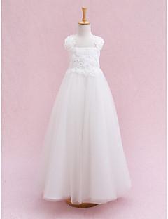 Vestido de vestidos com biquíni com vestido de menina - Tiras de tul sem mangas com flor por lan ting bride®