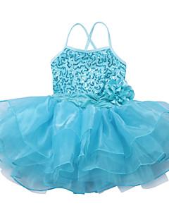 Mädchen Kleid Sport einfarbig Polyester Ganzjährig Ärmellos