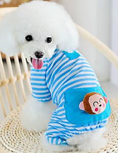 Kedi Köpek Tulumlar Pijamalar Köpek Giyimi Sevimli Günlük/Sade Karton Sarı Mavi Pembe