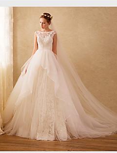 Vestido de bola vestido de casamento de organza com varas por drrs