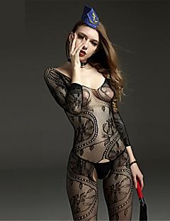 Jarretière Ultra Sexy Body Vêtement de nuit Femme Nylon Noir