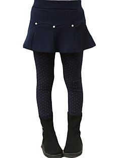 Mädchen Kleid / Rock / Leggings-Lässig/Alltäglich einfarbig Andere Winter Blau / Grau